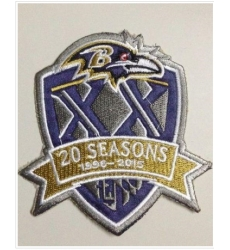 Stitched Baltimore Ravens 1996-2015 20th Seasons Jersey Patch