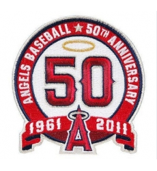Stitched Los Angeles Angels 50th Anniversary Jersey Patch