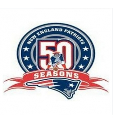 Stitched New England Patriots 50th Anniversary Jersey Patch