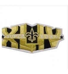 Stitched New Orleans Saints Super Bowl XLIV Gold Jersey Patch