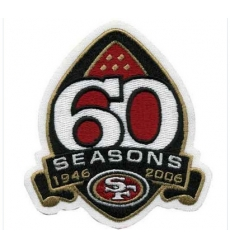 Stitched San Francisco 49ers 60th Season Jersey Patch (2006)