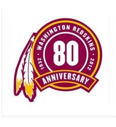 Stitched Washington Redskins 80th Seasons Jersey Patch
