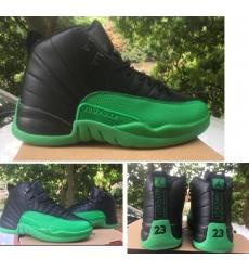 Jordan 12 Retro Black Green 2020 New Color Men Shoes