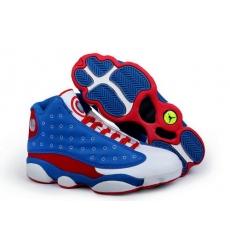 Air Jordan 13 Shoes 2013 Mens Captain America Blue Red White