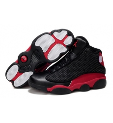 Air Jordan 13 Shoes 2013 Mens Grade AAA Grain Leather Black Red