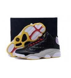 Air Jordan 13 Shoes 2015 Mens Black Grey Yellow