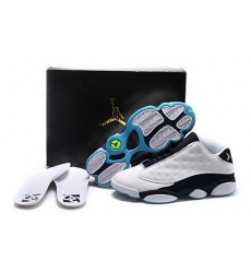 Air Jordan 13 Shoes 2015 Mens Low 30th Anniversary White Black Blue