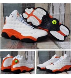 Jordan 13 Retro White Orange Men Shoes
