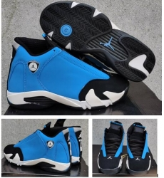 Air Jordan 14 Black Moon Blue Black Men Shoes