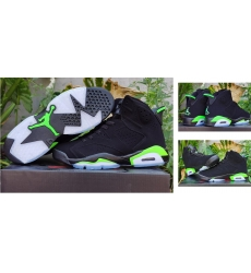 Air Jordan 6 Retro Shoes Black Light Green