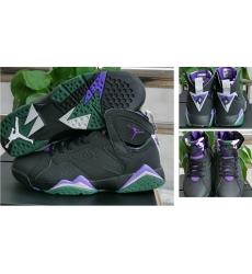 Air Jordan 7 Retro Men Shoes Black Purple Green