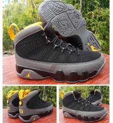 Air Jordan 9 Retro Black Yellow Men Basketball Shoes