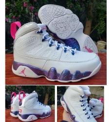Air Jordan 9 Retro Whie Purple Galaxy Men Shoes