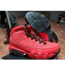 Men Jordan 9 Chicago Bulls Red Shoes