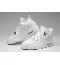 Air Jordan 4 Men Shoes All White