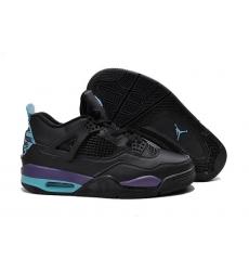 Air Jordan 4 Men Shoes Black Purple