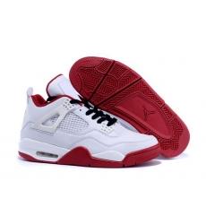 Air Jordan 4 Men Shoes White Red II