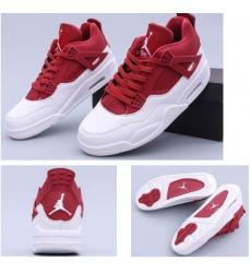 Air Jordan 4 Red White Men Basketball Shoes