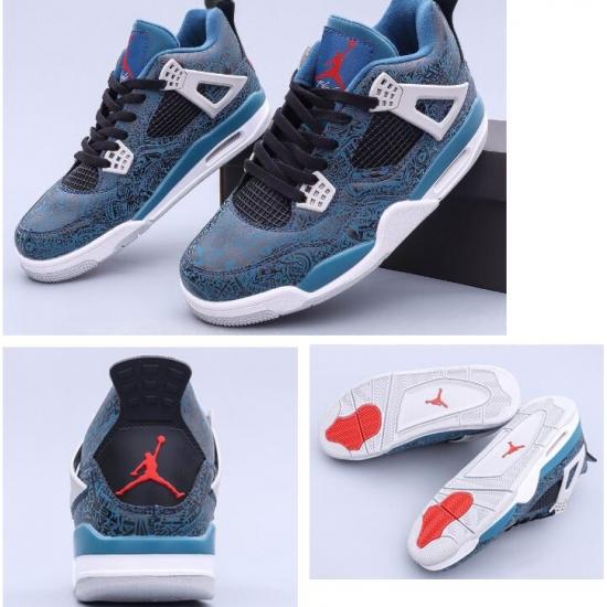 Air Jordan 4 Retro Laser Blue Men Shoes