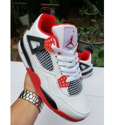 Air Jordan 4 Retro Men Shoes Classic White black red