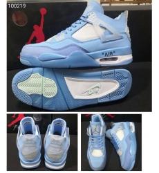 Air Jordan 4 Retro Off-White x Cream Sail Men Shoes