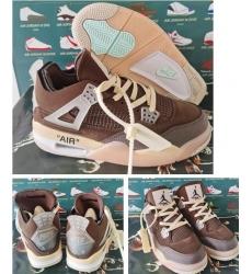 Men Air Jordan 4 Retro X off Brown 2020 Shoes
