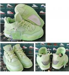 Men Air Jordan 4 Retro X off White Green Shoes