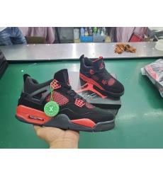 Men Jordan 4 MO 2021 Black Red Shoes