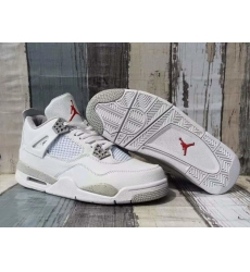 Men Jordan 4 Retro Orio White Silver Grey Shoes