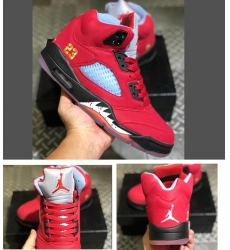 Air Jordan 5 Retro 2020 Red Gold 23 Letters Men Shoes