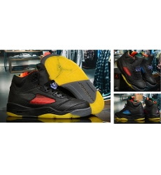 Air Jordan 5 Retro Men Shoes Black Colourful