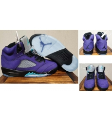 Air Jordan 5 Retro Men Shoes Purple Grape