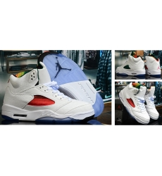 Air Jordan 5 Retro Men Shoes White Colourful