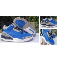 Air Jordan 3 Retro Men SHoes All Blue Black