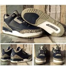 Air Jordan 3 Retro Navy Grey Men Shoes