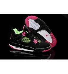 Air Jordan 4 Shoes 2014 Womens Black Rose