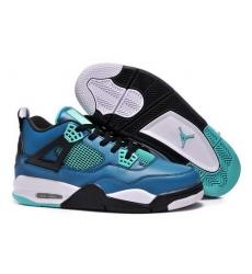 Air Jordan 4 Shoes 2014 Womens Couples Version Jade Black