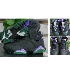 Air Jordan 7 Retro Women Shoes Black Purple Green