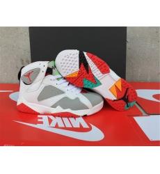 Air Jordan 7 Shoes 2015 Womens White Grey Red