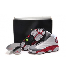 Air Jordan 13 Shoes 2015 Womens White Red Gray