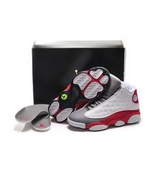 Air Jordan 13 Shoes 2015 Womens White Red Gray