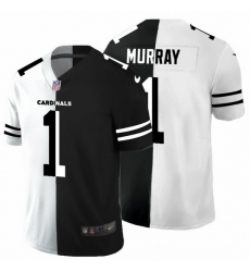 Arizona Cardinals 1 Kyler Murray Men Black V White Peace Split Nike Vapor Untouchable Limited NFL Jersey