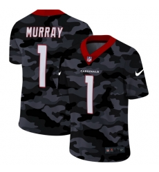 Arizona Cardinals 1 Kyler Murray Men Nike 2020 Black CAMO Vapor Untouchable Limited Stitched NFL Jersey