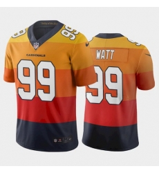 Men Arizona Cardinals 99 J J  Watt Sunset Orange City Edition Jersey