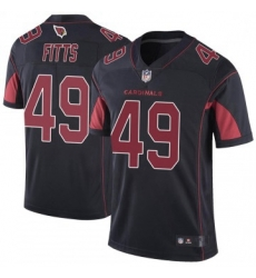 Men Nike Arizona Cardinals 49 Kylie Fitts Limited Cardinal Color Rush Vapor Untouchable Jersey