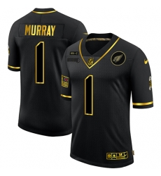 Nike Arizona Cardinals 1 Kyler Murray Black Gold 2020 Salute To Service Limited Jersey