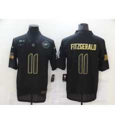 Nike Arizona Cardinals 11 Larry Fitzgerald Black 2020 Salute To Service Limited Jersey