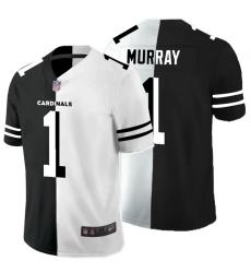 Nike Cardinals 1 Kyler Murray Black And White Split Vapor Untouchable Limited Jersey