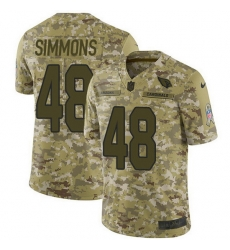 Nike Cardinals 48 Isaiah Simmons Camo Men Stitched NFL Limited 2018 Salute To Service Jersey