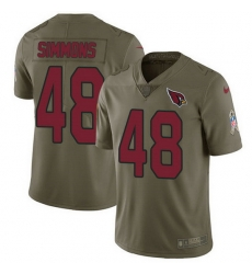 Nike Cardinals 48 Isaiah Simmons Olive Men Stitched NFL Limited 2017 Salute To Service Jersey